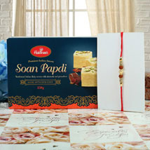 Rudraksh Diamond with Soan Papdi: Rakhi to Cambridge