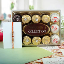 Sandalwood Ferrero Rocher Rakhi Hamper: Send Rakhi to Manchester UK