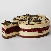 Simply Red Velvet Cheesecake: Cakes Delivery in Liverpool