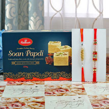 Soan Papdi with Rakhi: Rakhi to Newcastle