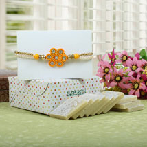 Sparkling Rakhi with Kaju Katli: Send Rakhi to Birmingham