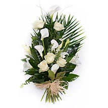 White Tied Sheaf: Send Flowers to UK