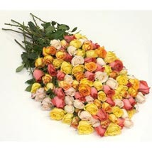 100 Long Stem Assorted Roses: Same Day Flower Delivery in Atlanta