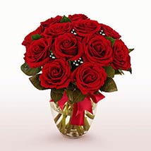 12 Long Stem Red Roses: Valentine Gifts to Charlotte