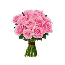 12 Pink Roses: Send Roses to USA
