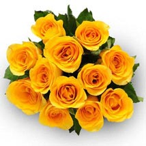 12 Yellow Roses: Send Flowers to Irvine
