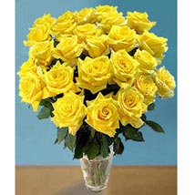25 Long Stem Yellow Roses: Send Gifts for Mother to USA