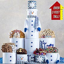 3 Foot Snowman Gift Tower: Send Christmas Gifts to USA
