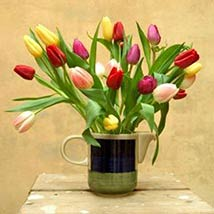 30 Assorted Tulips: Send Wedding Gifts to USA
