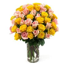 50 Long Stem Assorted Roses: Send Roses to USA