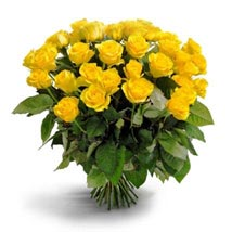 50 Long Stem Yellow Roses: Send Flowers to San Jose