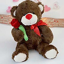 Accept my Rose Teddy Bear: Valentines Day Gifts New Jersey