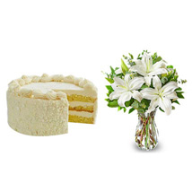 All White: Send Flowers & Cakes to Charlotte