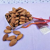 Almonds with Mauli Thread N Roli Tikka: Bhai Dooj Gift Delivery in USA