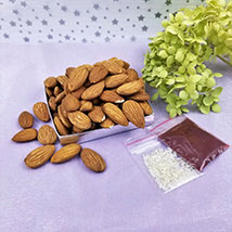 Almonds with Roli Tikka: Send Bhai Dooj Gifts to USA