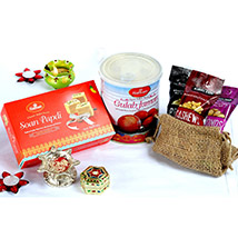 Assorted Sweets and Dry Fruits Bhai Dooj Collection: