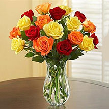 Autumn Rose Bouquet: Send Thank You Gifts to USA