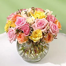 Beautiful Bowl of Roses: Wedding