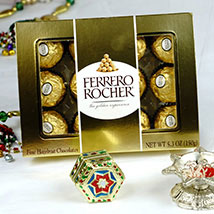 Bhaidooj Tikka and 12 Ferrero Rocher: Send Bhai Dooj Gifts to USA