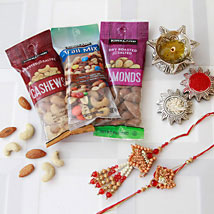 Bhaiya Bhaiya Rakhi with Dry Fruits: Rakhi to Denver
