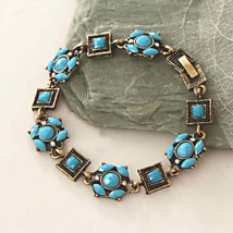 Blue Beads Antique Bracelet: Send Gifts to Allentown