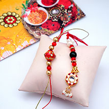 Bunch of Beads Bhaiya Bhabhi ki Rakhi: Rakhi for Bhaiya Bhabhi USA