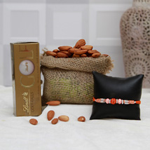 Choco Rakhi N Almonds: Rakhi With Dryfruits USA
