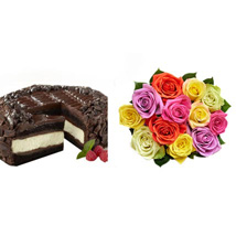 Chocolate Cheesecake and Colorful Roses: Roses