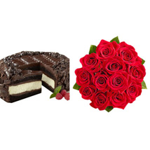 Chocolate Cheesecake and Roses: Send Roses to USA