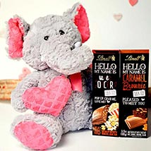 Chocolates With Soft Toy: Valentine Gifts to Charlotte