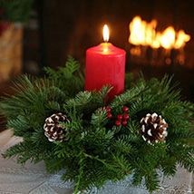 Classic Round Christmas Centerpiece: Send Christmas Gifts to USA