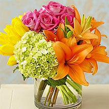 Colorburst of Spring: Send Mixed Flowers to USA