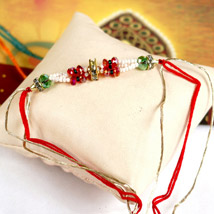 Colorful Beaded Rakhi: Send Rakhi to Denver