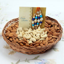 Crunchiness With Rakhi: Rakhi With Dryfruits USA