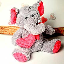 Cute Elephant Soft Toy: Valentine Day Gifts Madison
