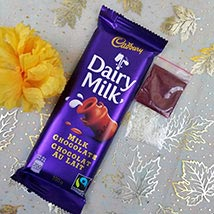 Dairy Milk with Roli Tikka: Bhai Dooj Gift Delivery in USA
