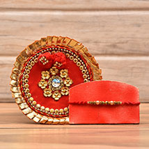 Decorative Rakhi With Puja Thali: Rakhi to Philadelphia