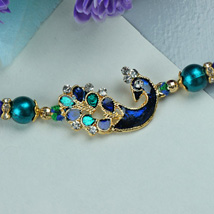 Elegant Peacock Rakhi: Send Rakhi to Cincinnati