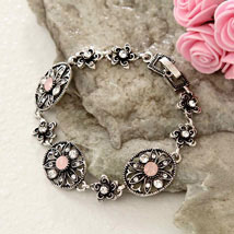 Floral Antique Bracelet: Gifts to Raleigh