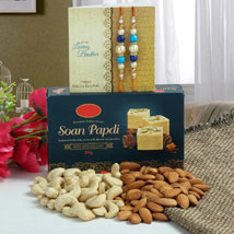 For You Bhai: Rakhi with Dryfruits to USA
