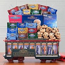 Ghirardelli Cable Car Chocolate Basket: Christmas Gift USA