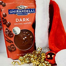 Ghirardelli Dark Melting Wafers N Santa Cap: Chocolate Delivery in USA