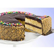 Golden Fudge Celebration Cake: Birthday Gifts to Tempe