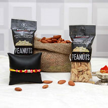 Gorgeous Rakhi Hamper: Rakhi With Dryfruits USA