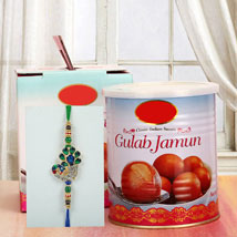 Gulab Jamun N Rakhi: Send Rakhi to Denver