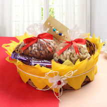 Heavy Rakhi Hamper: Rakhi with Dryfruits to USA