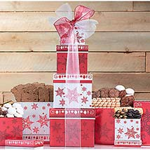 Holiday Cookie Tower: Send Christmas Gifts to USA