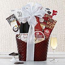 Kiarna California Champagne Basket: Christmas Gift USA