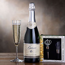 Kiarna Sparkling Wine Gift Set: Christmas Gift Hampers USA