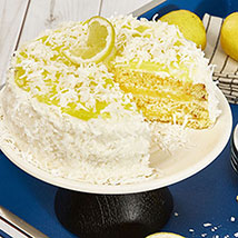 Lemon Coconut Cake: Send Birthday Cakes to USA